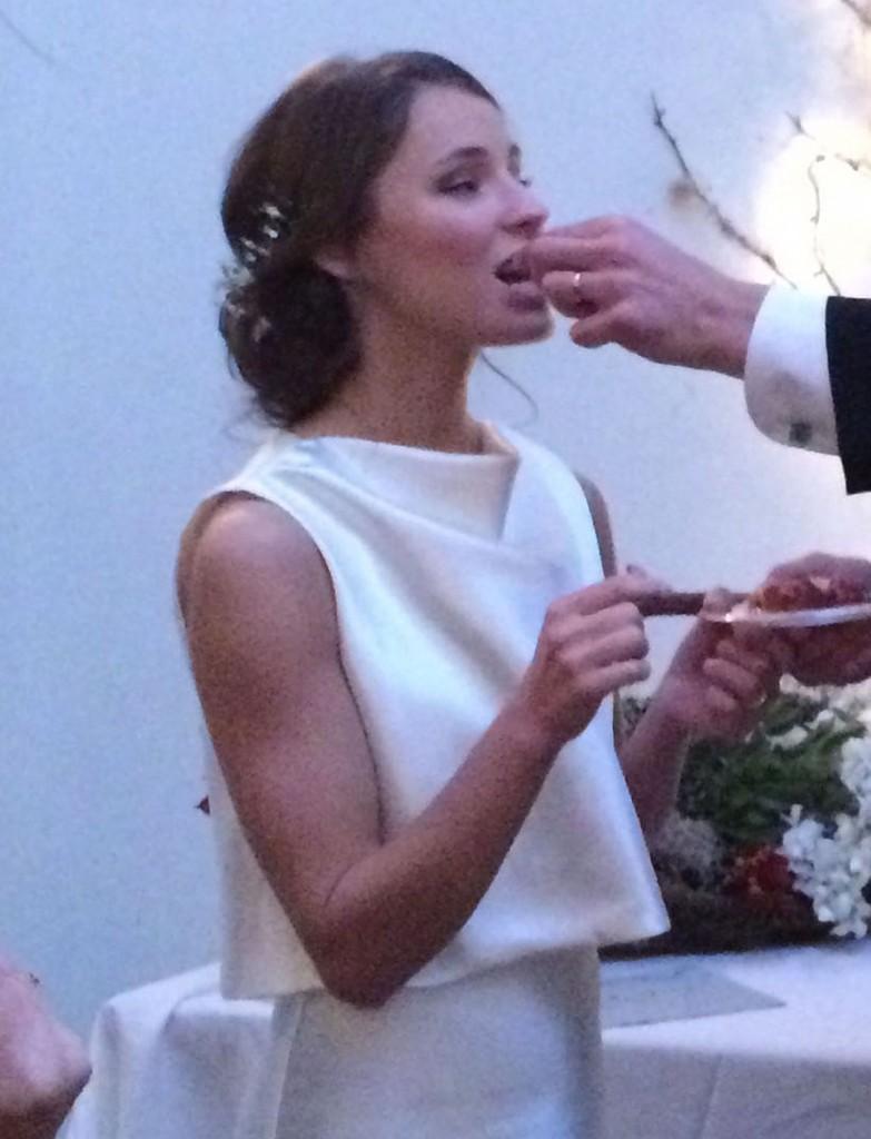 Katrina eating the cake