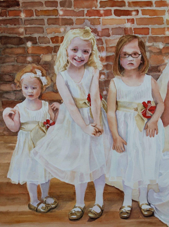 Rosie and three Flower Girls
