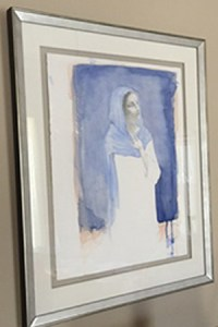 watercolor of Mary, mother of Jesus