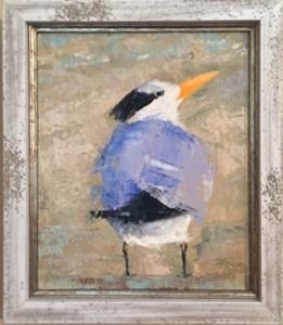 oil painting of royal tern