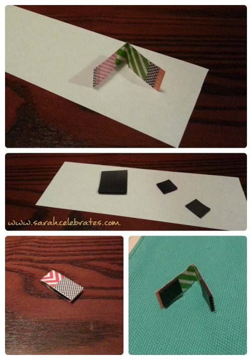 Washi Tape Bookmarks - Fold and Magnets