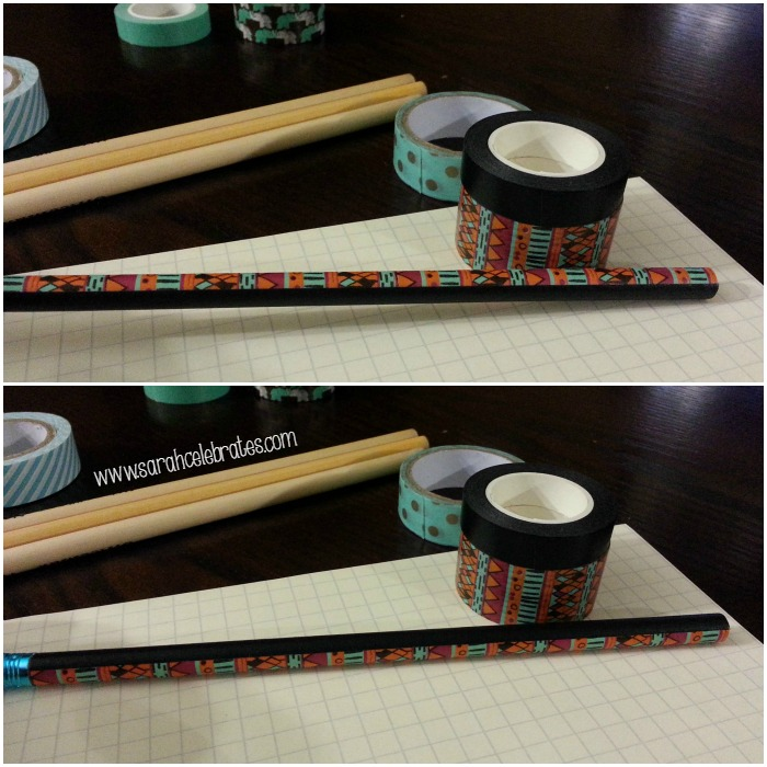 Washi Tape Pencils - Experiment With Tapes