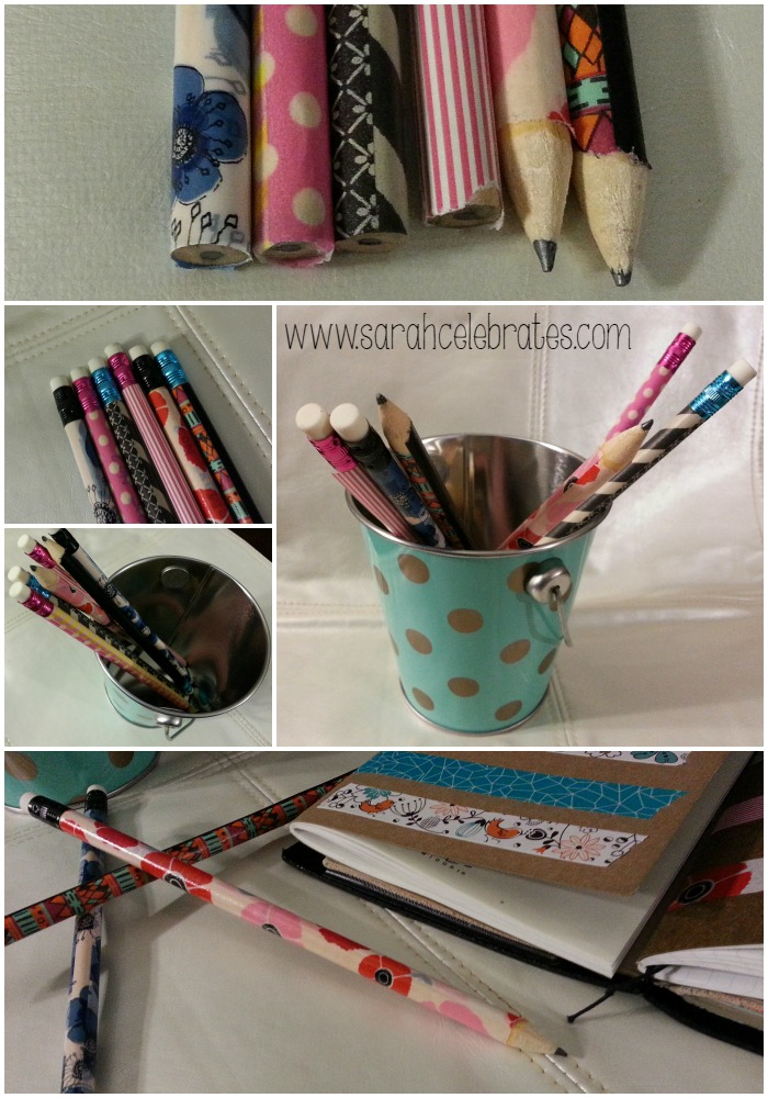 Washi Tape Pencils - Finished Pencils
