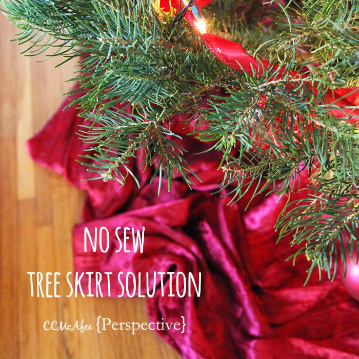 No Sew Tree Skirt - CCMcAfeePerspective | Sarah Celebrates #2usestuesday FEATURE