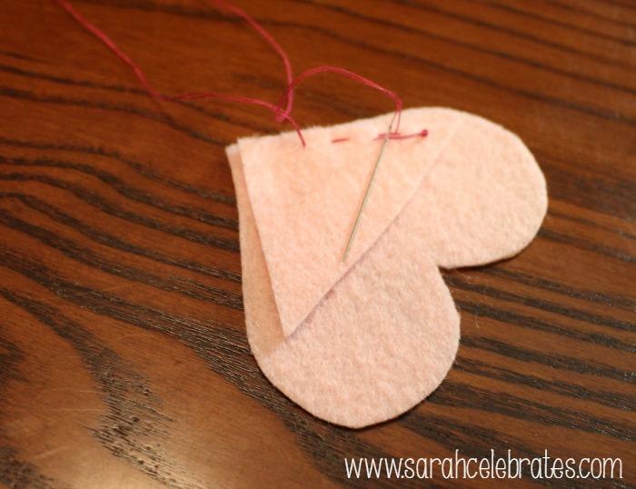 Felt Heart Bookmarks - Sew a Running Stitch   Sarah Celebrates