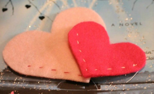 Felt Heart Bookmarks
