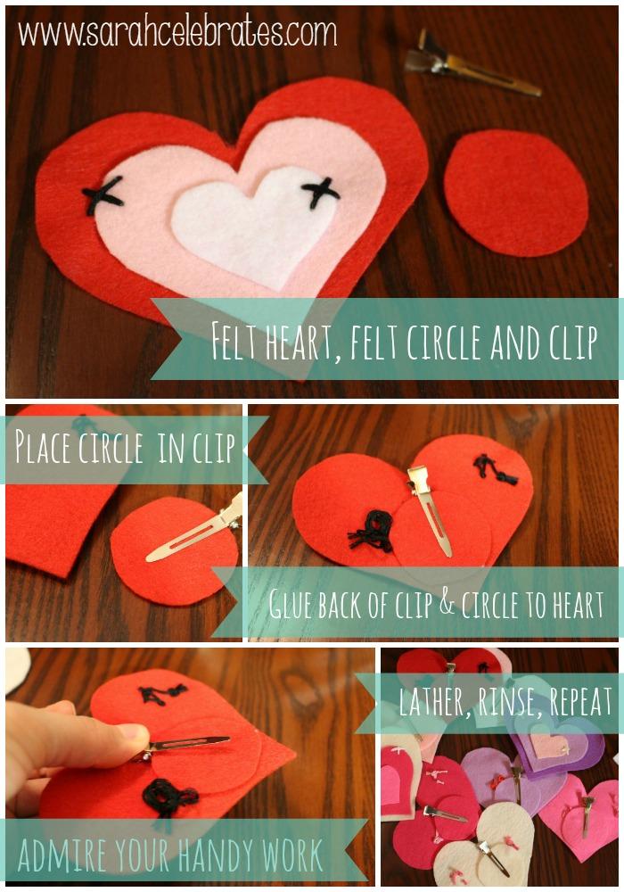 Grapevine Wreath w Felt Hearts - adding the clip | Sarah Celebrates #gettingmycrafton