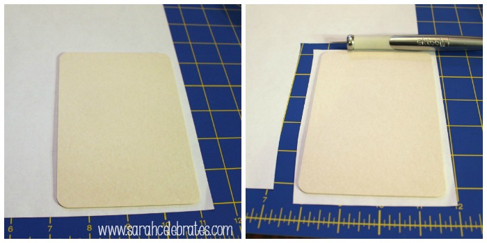 Mini Clipboards by Sarah Celebrates - Cut paper to cover board