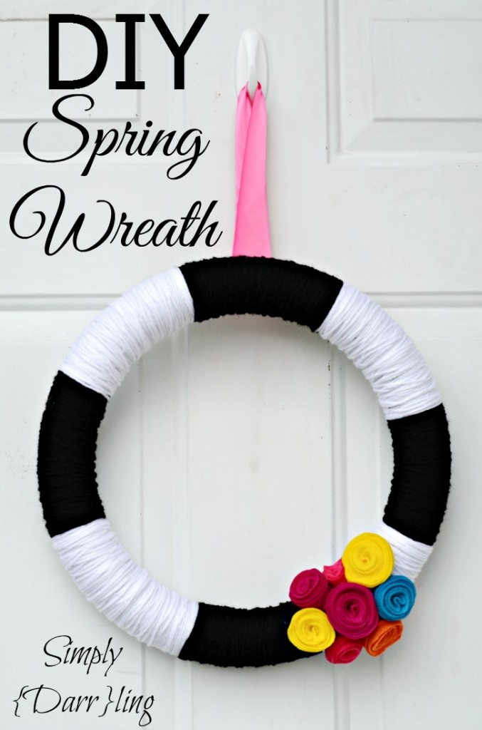 DIY_Spring_wreath, Simply Darrling - 2usestuesday feature | Sarah Celebrates
