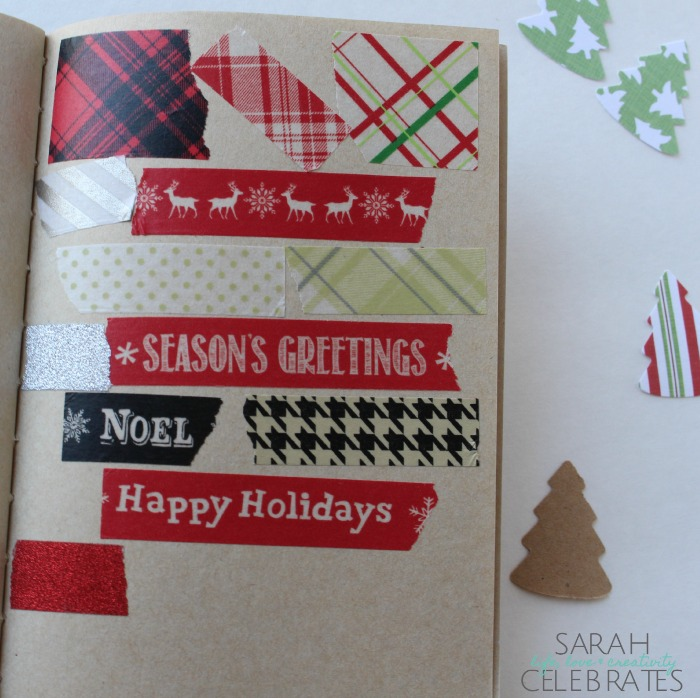 Christmas 2015 Memory Book - A Little Christmas Washi Tape | Sarah Celebrates