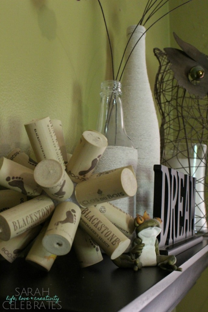 DIY Cork Ball Home Decor | Sarah Celebrates