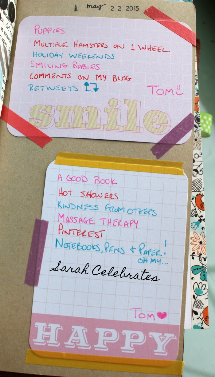 Things That Make Me Happy, List 21 #52List2015   Sarah Celebrates