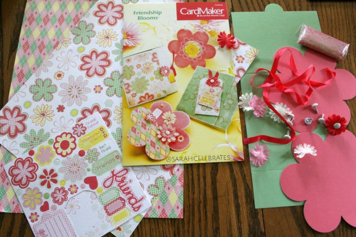 Baby Girl Shower Card - Card Maker Supply Kit - Sarah Celebrates