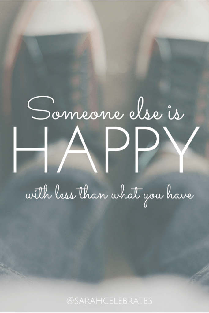 someone else is happy with less than what you have #MondayMotivation