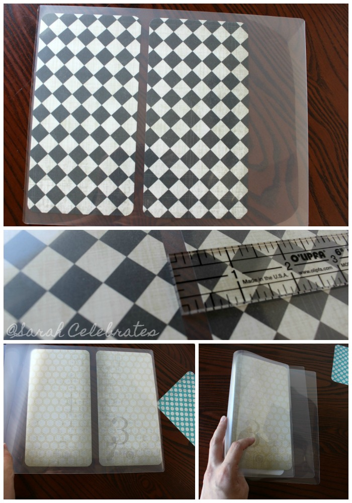 DIY Dashboard for your travelers notebook -Place in laminating sheet
