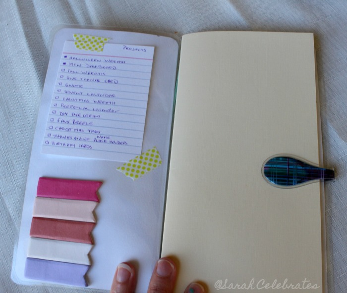 DIY Dashboard for your travelers notebook - accessorize