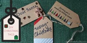 DIY Christmas Tags   Sarah Celebrates #30MinuteCrafts