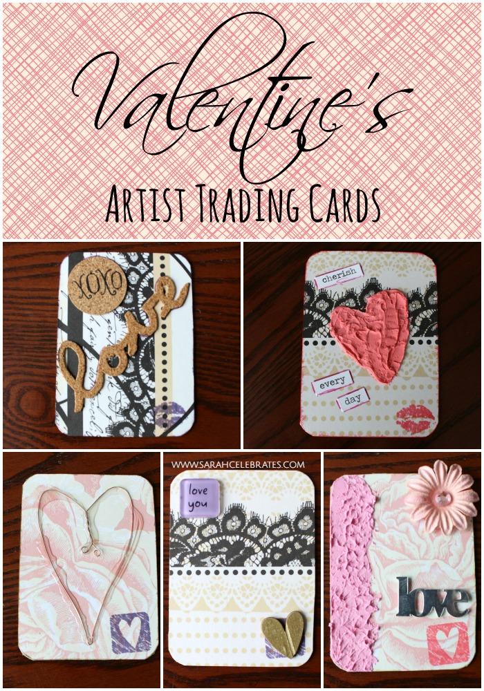 ATCs, Valentines Artist Trading Cards #MixedMedia #atcs