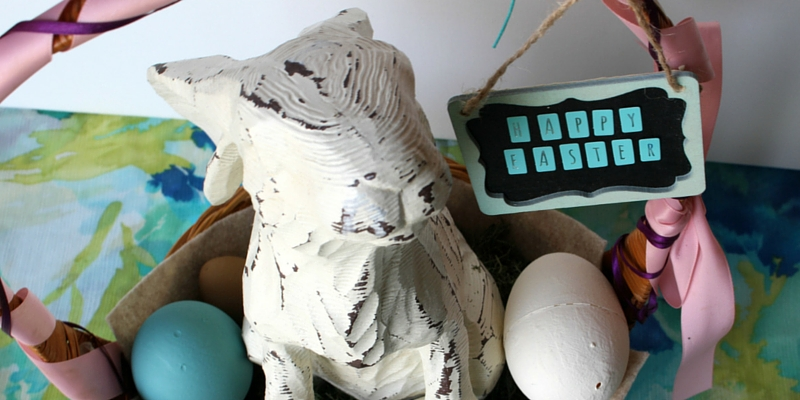 Childhood Easter Classic with Adult Style - turn your old Easter basket into your new holiday decor, with style!