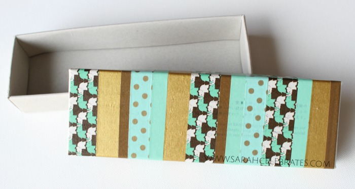 Inchie Storage Box - Washi Tape Covered Box