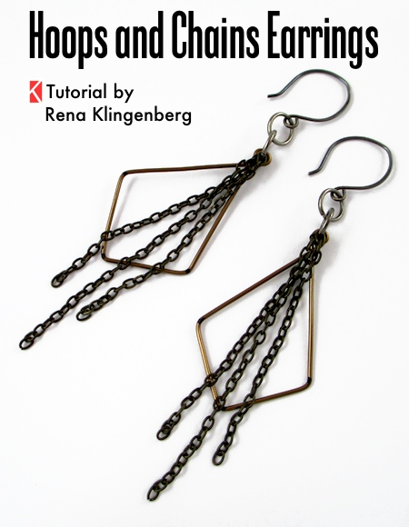 Hoops and chains earrings