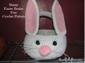 crochet bunny Easter basket | A Sarah Special #2usestuesday Feature