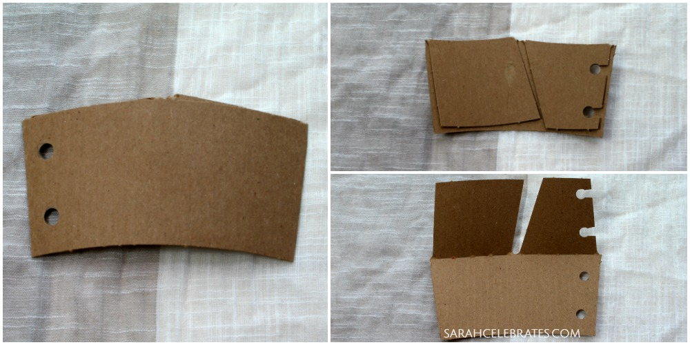 Mini Summer Book - Prepping the coffee sleeves