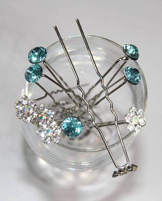 Bejeweled fringe pin