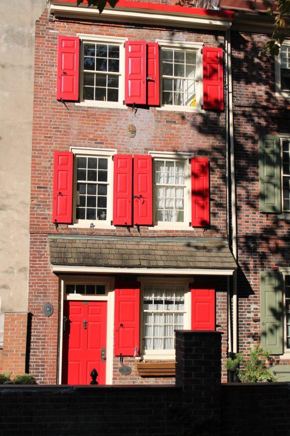Elfreth's Alley Philadelphia, plus vieille rue résidentielle des Etats-Unis