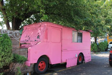 Portland Oregon Abandoned food truck