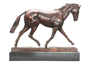 Miners' Frolic - a bronze sculture of a horse