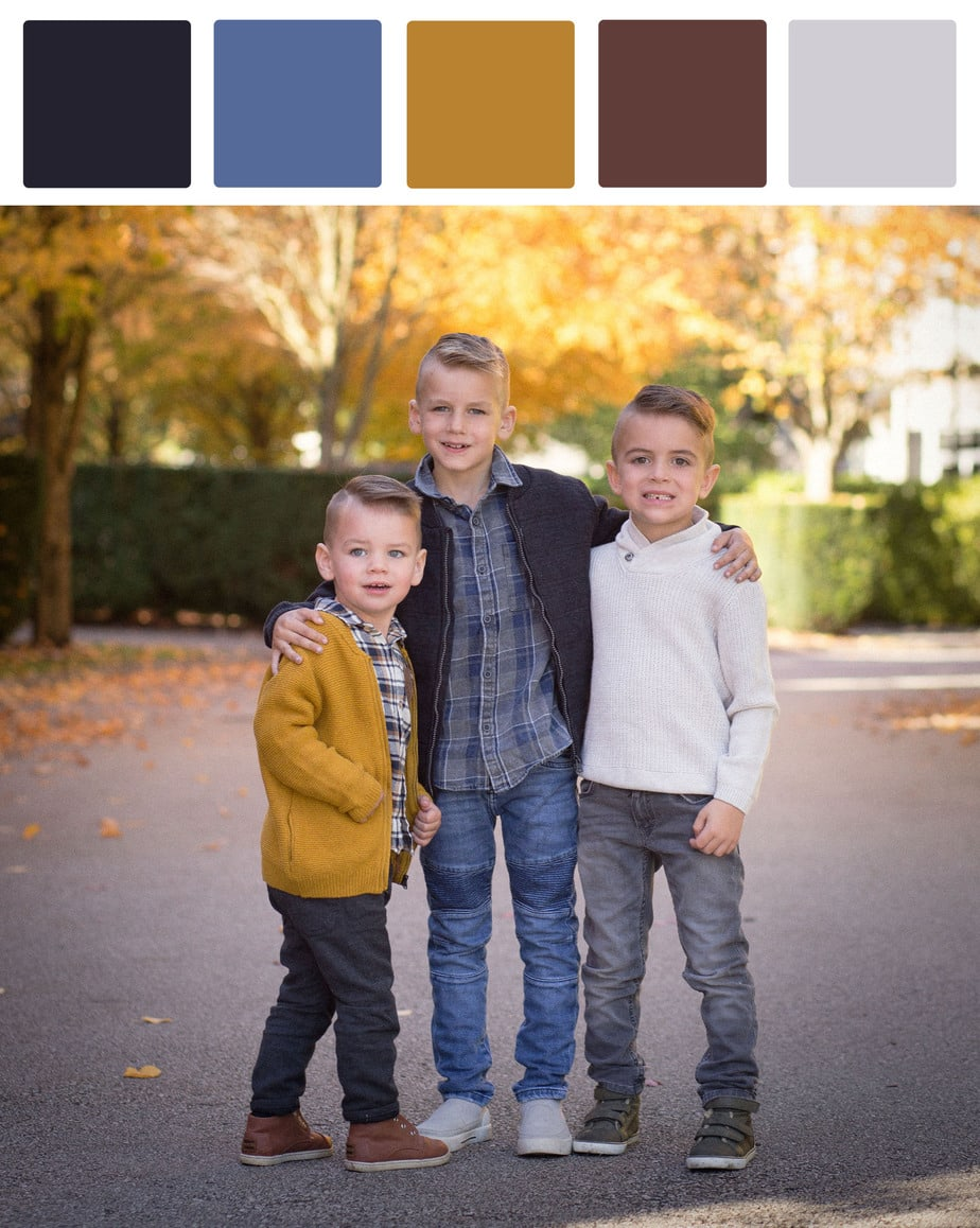 What to wear colour palette for fall photoshoot