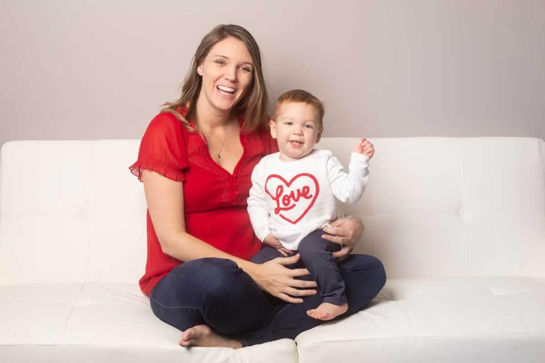 Sarah Davids with kid
