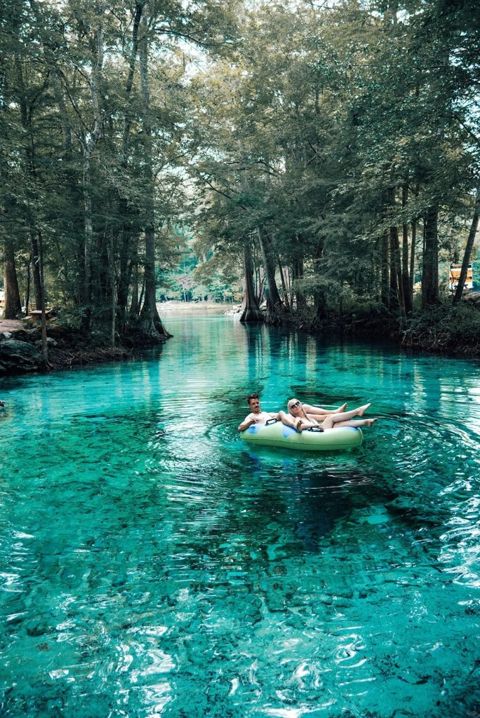Couple tubing on Ginnie Springs
