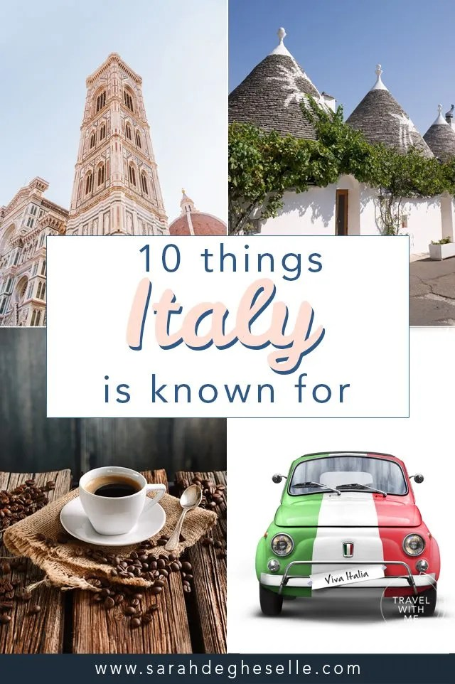 10 things Italy is known for