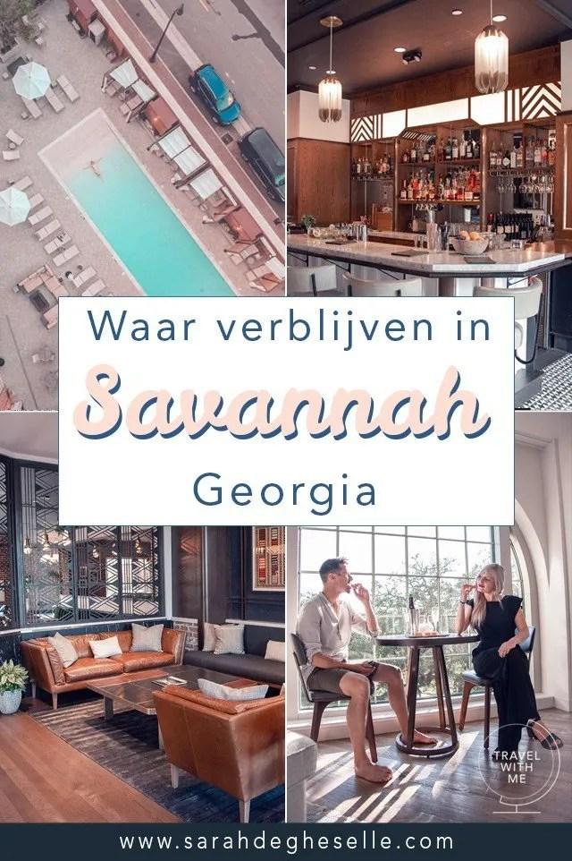waar verblijven in Savannah Georgia