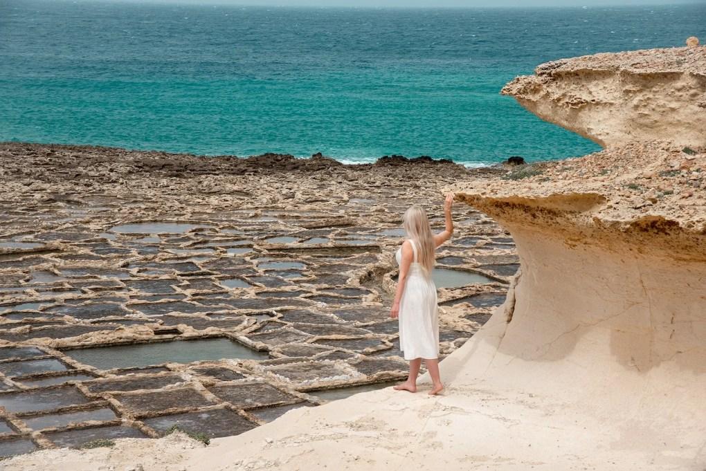 De zoutvlakten van van Qbajjar Gozo