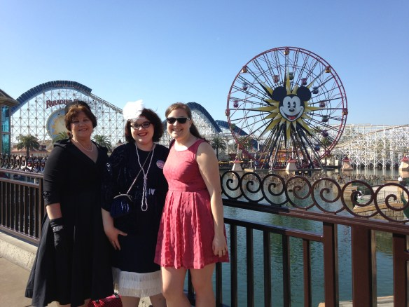 Mom, Me and Rachel at Disneyland for Dapper Day