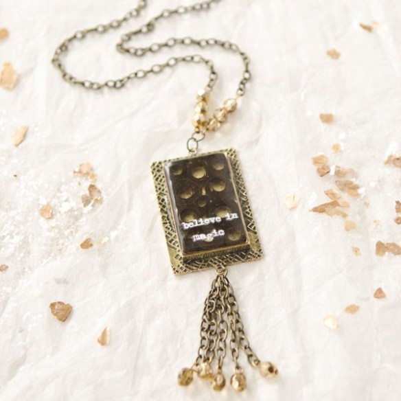 Believe in Magic Necklace by Sarah Donawerth | Free Jewelry Making Project