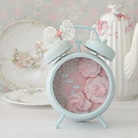 Shabby Chic Altered Clock