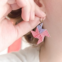 Patriotic Pinwheel Earrings