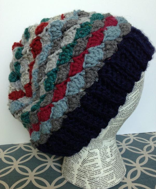 Yarn Remnants Project: Fan Stitch Beanie