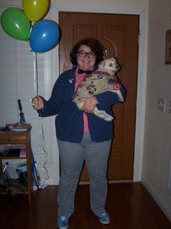 Carl Fredrickson and Russel the Wilderness Scout from Disney/Pixar's UP