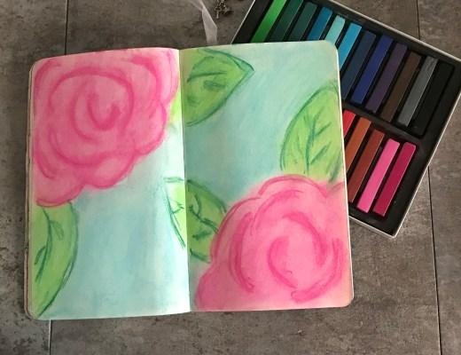 Super Easy Chalk Roses
