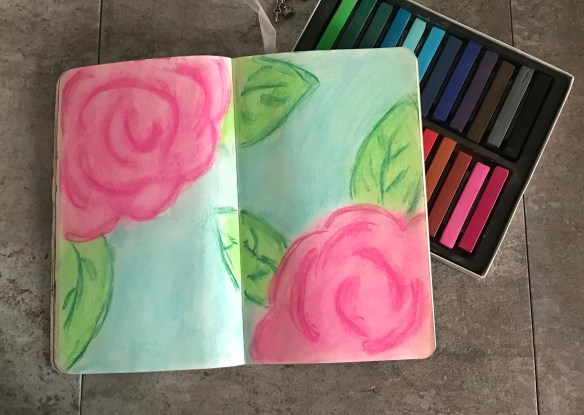 Super Easy Chalk Roses