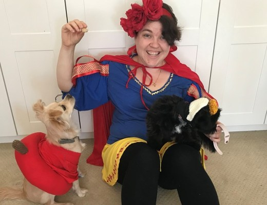 DIY Snow White, Poison Apple, and Evil Queen Costumes
