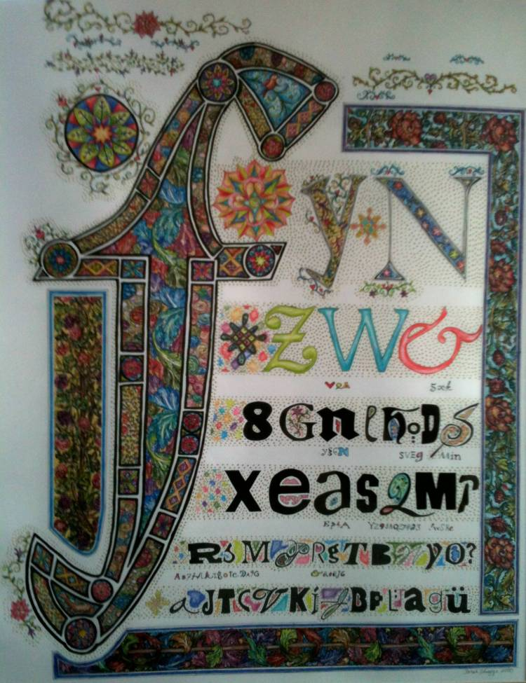 medieval lettering 2000
