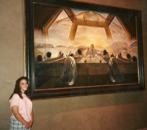 "In front of Salvador Dali's ""The Sacrament of the Last Supper,"" National Gallery of Art, Washington, D.C., 1993"