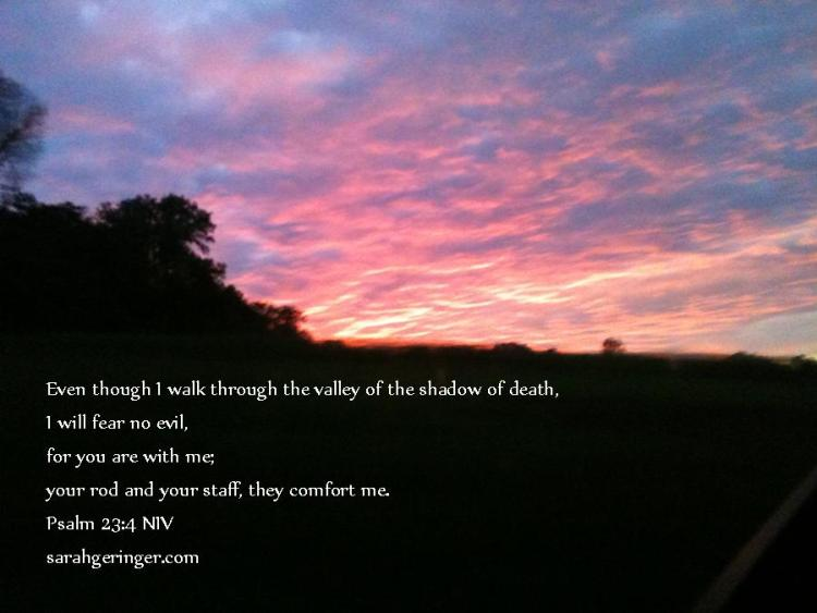 quote card Psalm 23.4