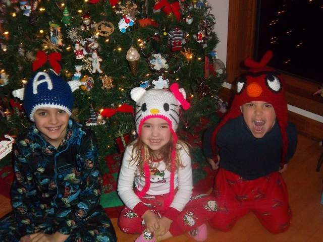 My three children, Christmas 2012